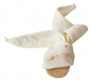 LULLALOVE kaklaskarės ir medinio kramtuko komplektas Gryzole Pineapple GRY-0001