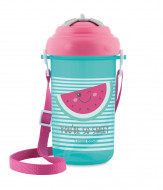 CANPOL BABIES cup with flip-top silicone straw So Cool!, 400 ml, 4/102_pin 4/102_pin