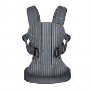 BABYBJÖRN nešioklė One Cotton mix Pinstripe/Gray, 093036 093036