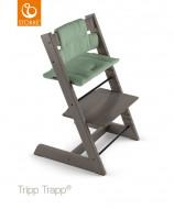 STOKKE maitinimo kėdutės paminkštinimas Trip Trap Timeless Green (eko medvilnė) 100352 100352
