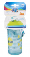 CANPOL BABIES cup with flip-top silicone straw So Cool!, 400 ml, 4/102_yel 4/102_yel