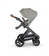 STOKKE  vežimėlio rėmas su sportine dalimi Trailz Black / Brown - Brushed grey 562206
