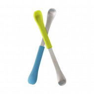 BOON šaukšteliai 2 vnt. 4m+ Blue and Green B10150