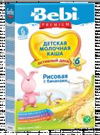 BEBI PREMIUM pieniška ryžių košė su bananais 6m+ 250g 3838600217712