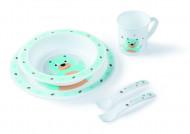 CANPOL BABIES plastikinių indų ir įrankių rinkinys 5 d. 4/401 bear 4/401_tur