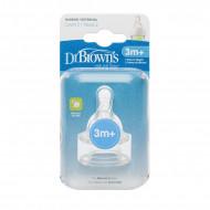 DR.BROWNS žindukai silikonininiai siauru kakleliu II lygio 3-6 mėn. 2vnt. 322-INTL 322-INTL