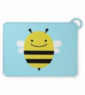 SKIP HOP silikoninis padėkliukas Zoo Fold & Go Bee 252054