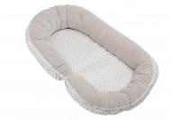 MOTHERHOOD 2in1: jaukus kūdikio miegas + mamos pagalvė Beige Classic 054/140 054/140