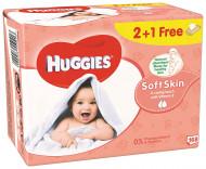 HUGGIES drėgnos servetėlės Soft Skin 2+1 168vnt 5029053550213
