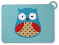 SKIP HOP silikoninis padėkliukas Zoo Fold & Go Owl 252050