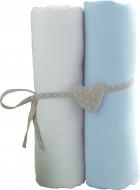 BABYCALIN paklodžių rinkinys su guma, šviesiai mėlyna 2vnt 60x120 cm, BBC413715 BBC413715