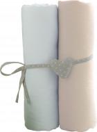 BABYCALIN paklodžių rinkinys su guma balta/smėlio sp. 2vnt 60x120 cm, BBC413716 BBC413716