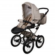 MILLI vežimėlis 3in1 Classic eco beige leather WGMILLICLEKOLEATHE04