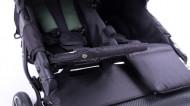BABY MONSTERS vežimėlis dvynukams Easy Twin 3S Black BMT3.0S-10001