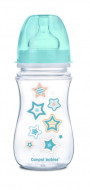 CANPOL BABIES wide neck anticolic bottle EasyStart - Newborn baby 240ml 35/217 blue stars 35/217_blu