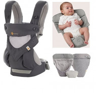 ERGOBABY carrier 360 Cool Air Carbon grey, BC360PBLKGRY BC360PBLKGRY