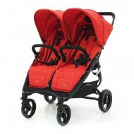 VALCO BABY vežimėlis dvynukams SNAP DUO, fire red, 9885 9885