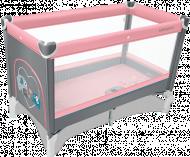 BABY DESIGN kelioninė lovelė Simple New 08 Pink 5901750299384