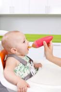 BOON silikoninis maitinimo šaukštelis 89 ml 4m+ Squirt Orange B10124