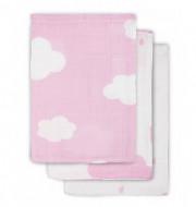 JOLLEIN veido pašluostukai Clouds pink 3vnt. 15x20 cm 537-848-65056