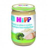 HiPP brokolių su ryžiais ir triušiena tyrelė 220g 8m+ 6433 6433