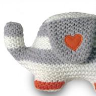 NATURES PUREST megztas žaisliukas Knitted Elephant  0146 0146