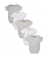 MOTHERCARE short sleeves bodysuit Modern Layette 5 pack premature 853965 853965