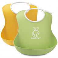 BABYBJÖRN Soft Bib 2-pack Green/Yellow 46504 46203