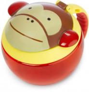 SKIP HOP užkandžių puodelis 12m+ 221ml Zoo Monkey 252551