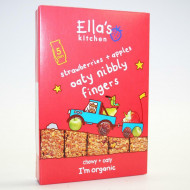 ELLA'S KITCHEN avižiniai sausainiai su braškėmis ir obuoliais 5x25g 12m+ EK152 EK152