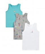 MOTHERCARE undershirt boy Ocean Explorer 3 pack 140 782455 782455