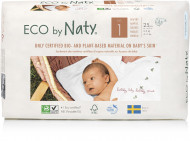 Eco by NATY diapers 1 New Born dydis, 25pcs 8178358