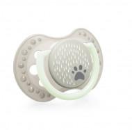 LOVI dynamic soother silicone Buddy Bear 6-18 m. 2 vnt. 22/865 22/865