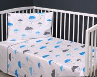 MILLI patalynės komplektas 3-jų dalių Blue/ Rain 135x100, 40x60 cm, 180x30 cm FPO773NIBALWP3