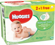 HUGGIES drėgnos servetėlės Natural Care 2+1 168vnt 5029053550176