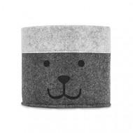 JOLLEIN basket XL felt Bear Grey 35xØ30cm 580-010-65098