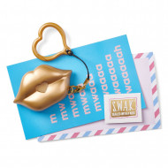 S.W.A.K. raktų pakabukas su garsu Matte Gold Kiss, 4114 4114