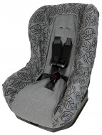 DOOKY seat cover Grey Leaves 126827 126827