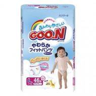 GOO.N sauskelnės-kelnaitės mergaitėms L 9-14kg 46 vnt. 853628