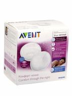 Avent breast pads disposable Night, 20vnt., 1/612 1/612