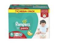 PAMPERS Sauskelnės Easy up Baby dry Dydis 4 76vnt Mega + Package 8001090311733