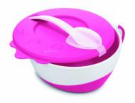 CANPOL BABIES dubenėlis su šaukštu Cow 350ml 31/406 pink 31/406_pin