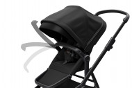THULE vežimėlis + lopšys Sleek Black on Black 11000019