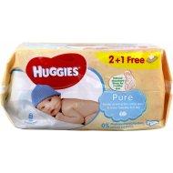 HUGGIES drėgnos servetėlės Pure 2+1 168vnt 5029053550091