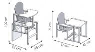 DREWEX feeding chair Antoś Mały Miś Vanil-Mocca Antoś Mały Miś