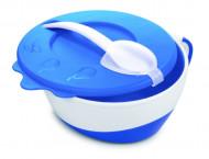 CANPOL BABIES dubenėlis su šaukštu Cow 350ml 31/406 blue 31/406_blu