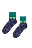 STEVEN Socks green/navy 014-211 29-31 014-211