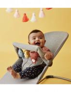 BABYBJÖRN bouncer Bliss Bundle Light Grey, 3D Jersey/toy 606072