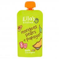 ELLA'S KITCHEN Eko mangų, kriaušių, papajų tyrelė, 120g EK208