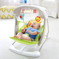 BABY GEAR nešiojamas gultukas-supynės RainForest Friends, CCN92 CCN92